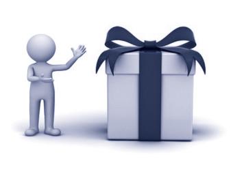 geschenkdoos met 3d man